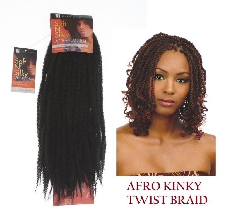 Sensationnel Soft N Silky Afro Kinky Twist Braid Twist